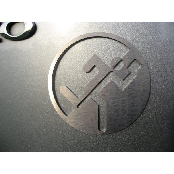 O-løber Emblem i rustfrit stål