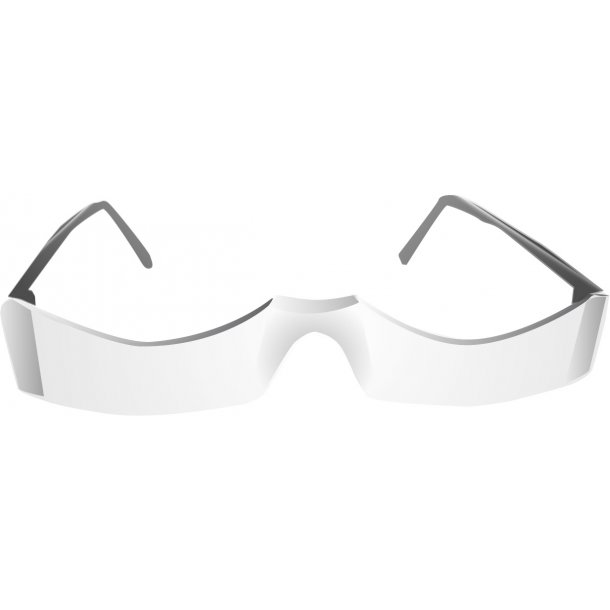 Nedslebet læsebrille
